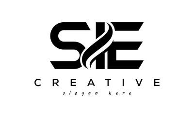 Fototapeta Letter SIE creative logo design vector obraz