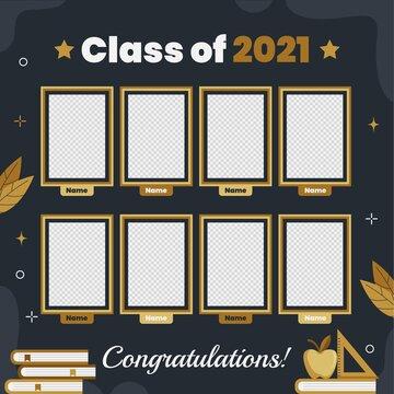 Flat Graduation Yearbook Template
