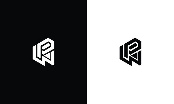 Alphabet initial WP logo design vector illustration