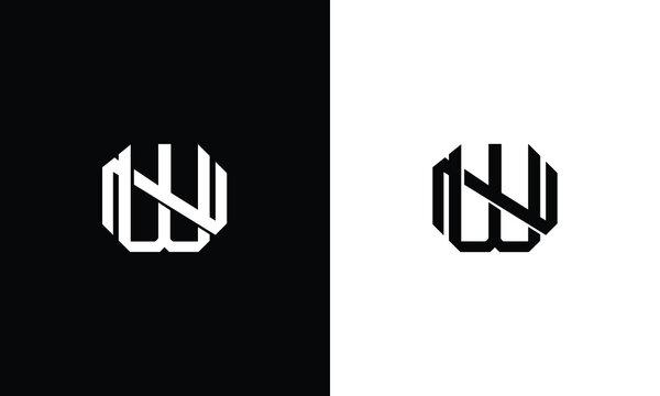 Alphabet letters Initials Monogram logo WN, NW