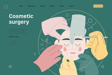 Obraz Medical insurance template - cosmetic, plastic, aesthetic surgery - fototapety do salonu