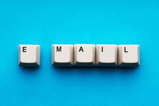 E-mail is composed of keyboard keys