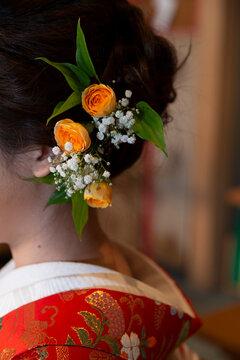 Shinto style bride's hair ornament