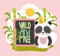 Obraz panda wild and free - fototapety do salonu