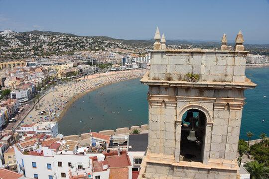 Espagne peniscola plage vacances église