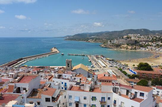 Europe Espagne Peniscola mer océan vacances plages soleil été port