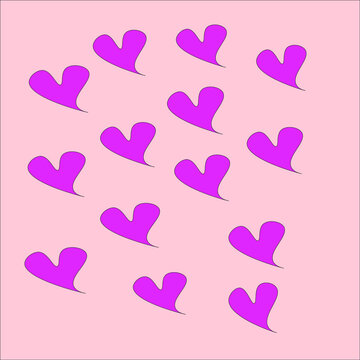 seamless pink hearts on pastel background