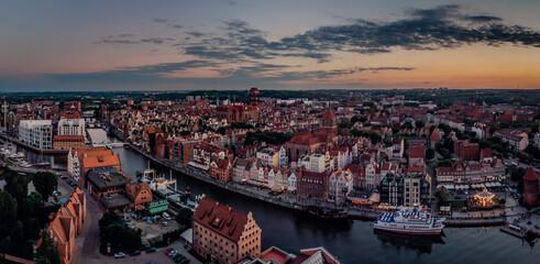 Fototapeta Gdańsk o zachodzie słońca obraz