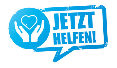 Obraz Jetzt Helfen - Stempel Vektor Illustration - fototapety do salonu
