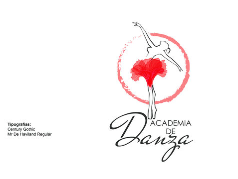 logotipo de escuela, academia de danza