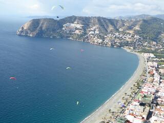 Aerial view of La Herradura, Spain