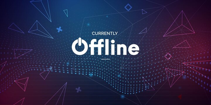 modern currently offline banner with abstract background twitch vector design illustration