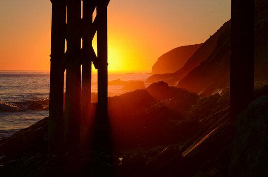 Santa Barbara County Surf Sunset