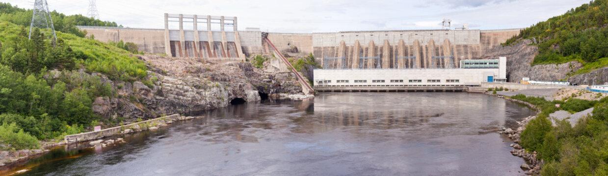 Outardes River Hydro Dam Quebec Canada