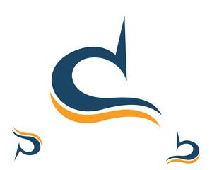 Obraz d b p flow swoosh logo template - fototapety do salonu