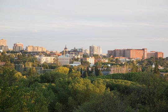 View of the City of Madrid from Dehesa de la Villa Park