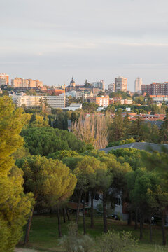 View of Madrid from Dehesa de la Villa Park; Spain