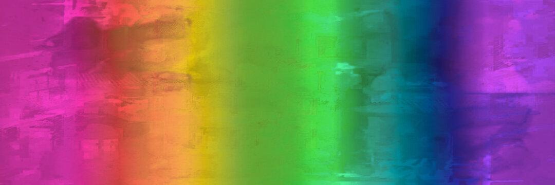 Banner in Regenbogenfarben