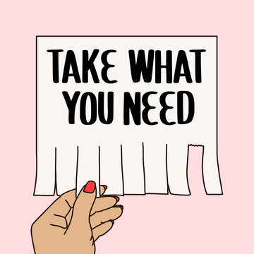 Take what you need paper announcement