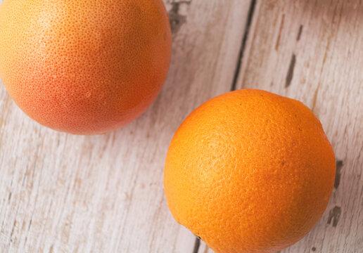 Orange,Grapefruit and Lemon put on background