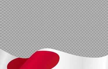 Fototapeta Waving flag of  Japan isolated  on png or transparent  background,Symbols of  Japan,template for banner,card,advertising ,promote, TV commercial, ads, web, vector illustration obraz