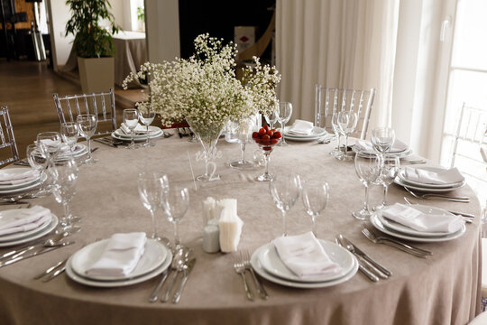 stylish festive wedding table set