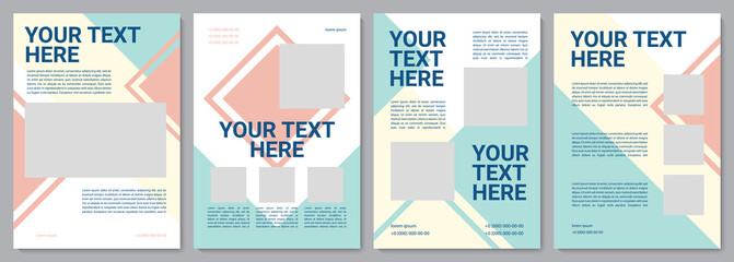 Fototapeta Customer service brochure template. Customer info. Flyer, booklet, leaflet print, cover design with copy space. Your text here. Vector layouts for magazines, annual reports, advertising posters obraz