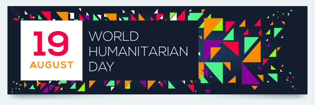Creative design for (World Humanitarian Day), 19 August, Vector illustration.