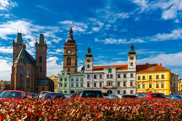 Gothic Cathedral of the Holy Spirit. Hradec Kralove. Czech Republic