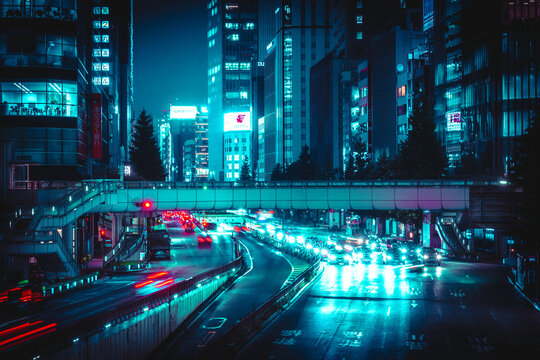 夜の幹線道路2