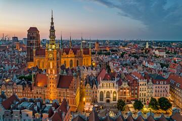 Obraz Old Town of Gdańsk, Poland. - fototapety do salonu