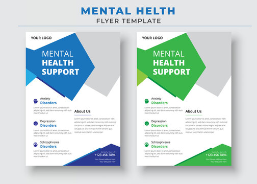 Mental Health Support Flyer Template, support group flyer and poster