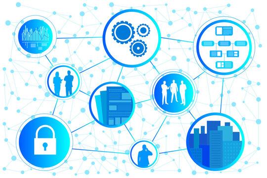 ビジネス 企業 オフィス データ アイコン AI ベクター 素材