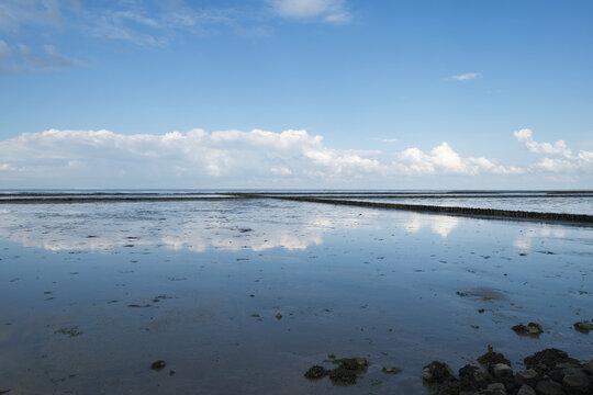 Wattenmeer in Keitum bei Ebbe auf Sylt