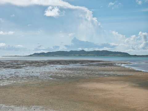 Okinawa,Japan - July 12, 2021: Nagura Anparu, a wetland in Ishigaki Island, Okinawa, Japan