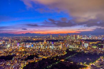 Fototapeta 東京 大都会のマジックアワー2021 夏 obraz