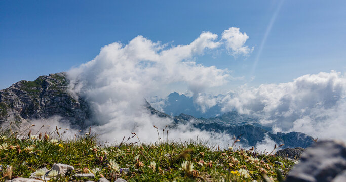 Slowenien Sommer 2021 Brege Panorama Wolken