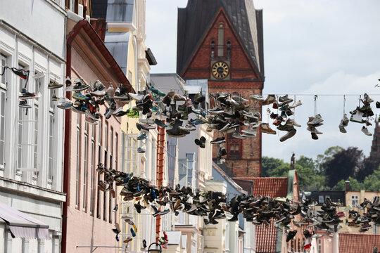 Häuserfassaden in Flensburg