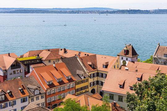 Blick von Meersburg aus über den Bodensee