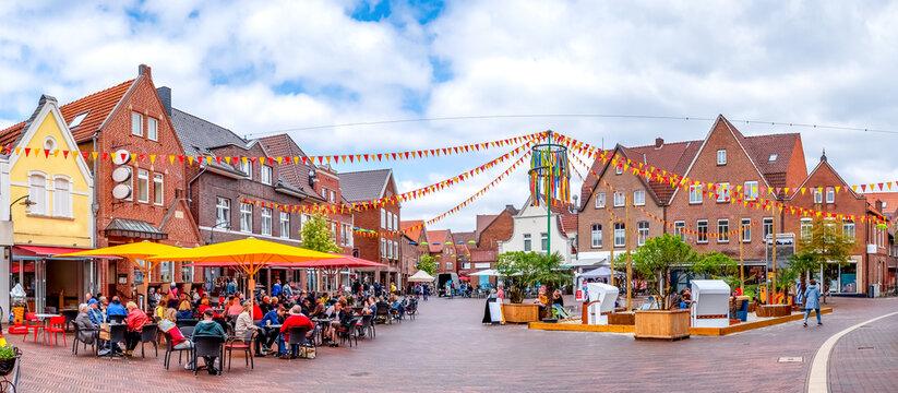 Marktplatz, Meppen, Niedersachsen, Deutschland