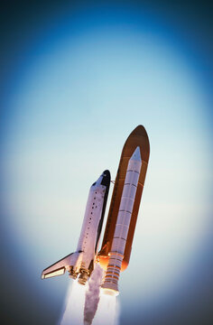 Amazing rocket launch. The elements of this image furnished by NASA.