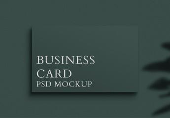 Fototapeta Luxury Business Card Mockup in Dark Tone obraz