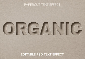 Fototapeta Paper Cut Editable Text Effect obraz