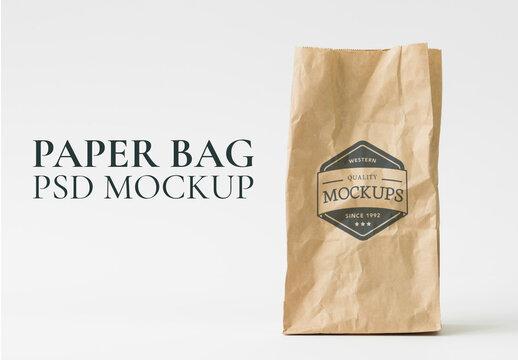 Recycle Paper Bag Mockup