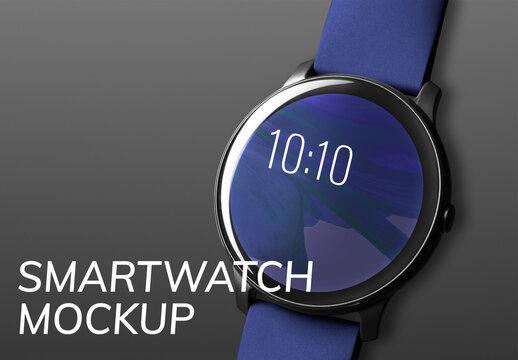 Smartwatch Screen Mockup Digital Device