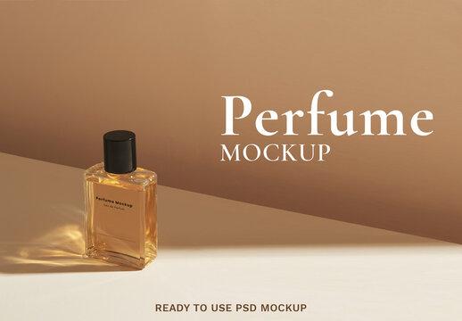 Blank Perfume Glass Bottle Mockup Design