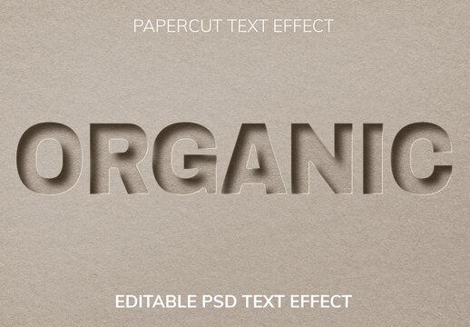 Paper Cut Editable Text Effect