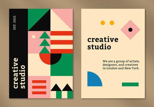 Editable Poster Layout in Bauhaus Design