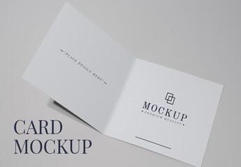 Obraz Editable Foldable Card Mockup - fototapety do salonu