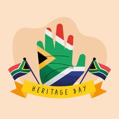 Fototapeta heritage day postcard obraz